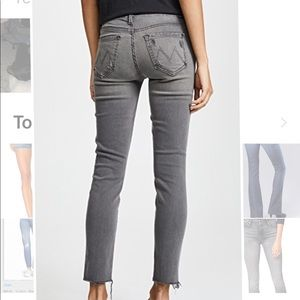 Mother Looker Grey Jeans NEW